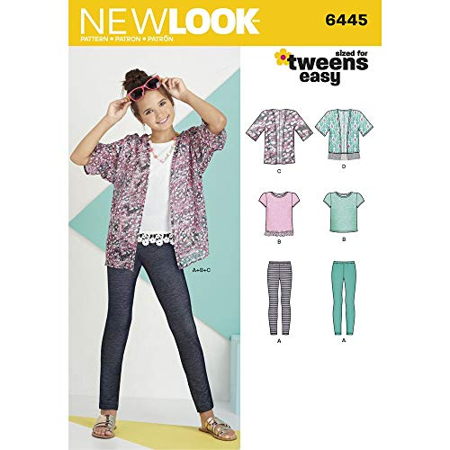 New Look/Knit Top Leggings Kimono niña patrón Costura