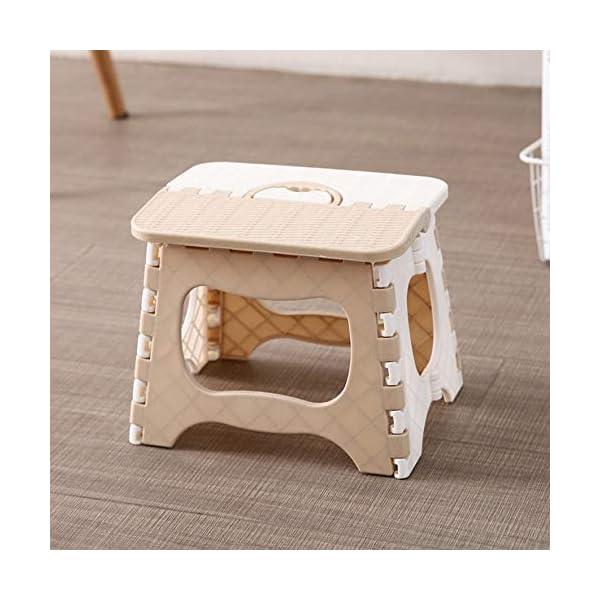 RoadRoma Diseño portátil de la manija Silla Plegable Duradera para Acampar Silla de Pesca (Beige) 2