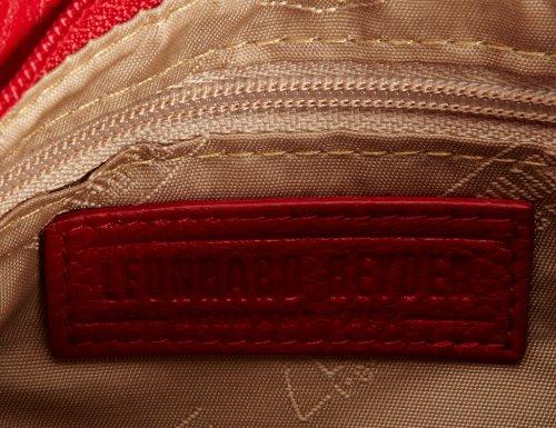 Leonhard Heyden 3221-001 Oslo, Damen Schultertasche, Schwarz (Black) Rot (Red)