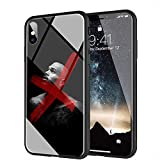yinzongstore iPhone 6 Coque, iPhone 6s Coque, Pare-Choc Souple en Silicone avec Coque arrière en Verre trempé Compatible avec iPhone 6/6s AMB-13 Chris Brown