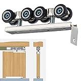 uooom Schiebetür 8-wheeled Dusche Badezimmer Küche Schrank Schiebetür Roller Rad zum Aufhängen Umlenkrolle mit Schraube