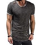 Swallowuk Uomo Casual Maglietta Maniche Corte T-Shirts Sportivo Tee Tops (M, nero)