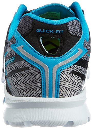 SkechersGo Run 4 - Scarpe Running da Uomo Nero (Nero (Black/Blue))