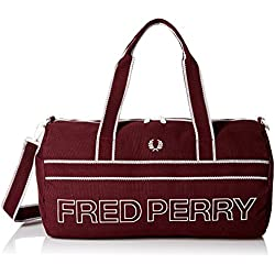 Maroon Sports Canvas Barrel sac de Fred Perry