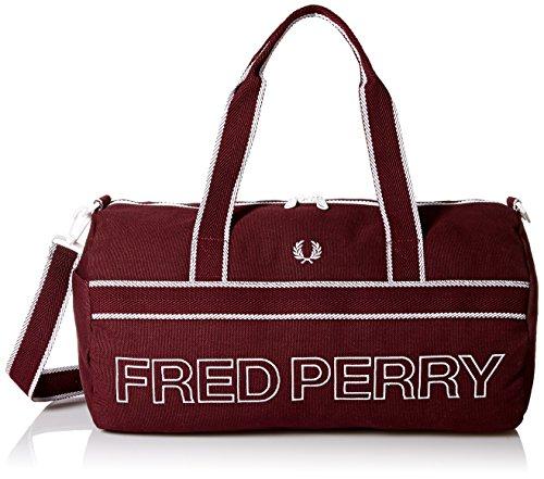 Maroon Sports Canvas Barrel sac de Fred Perry