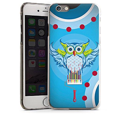 Apple iPhone 5s Housse Étui Protection Coque Hibou Hibou couleurs CasDur transparent