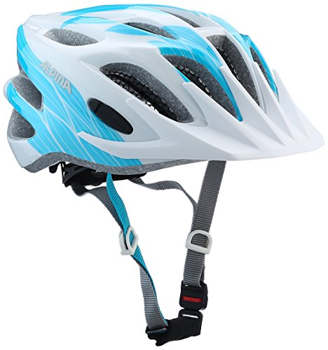 Alpina Kinder Fb Jr. 2.0 Fahrradhelm, white-cyan, 50-55 cm