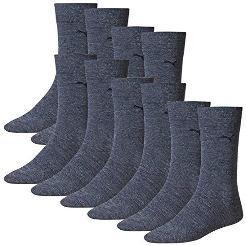 PUMA Herren Classic Casual Business Socken 10er Pack denim blue 460 - 47/49