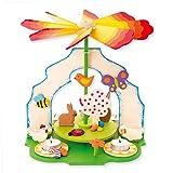 matches21 Weihnachtspyramide 2in1 Osterpyramide für Teelichter Bausatz f. Kinder Werkset Bastelset ab 11 Jahren