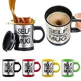 takestop® Tazza AUTOMESCOLANTE magcup Termica Self Stirring Mug Miscela Schiuma Caffe' Idea Regalo Gadget Colore Casuale