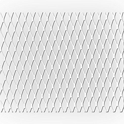 kuhlergrill-rautengitter-alu-100x25cm-kleine-waben-weiss