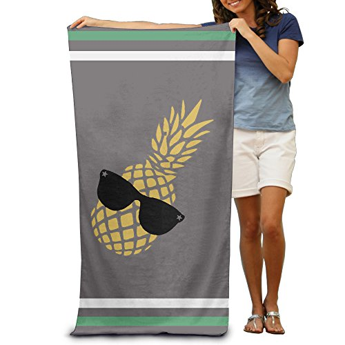 Wolopo Cooles Ananas-Badetücher Strandtücher Waschlappen Erwachsene weich saugfähig -