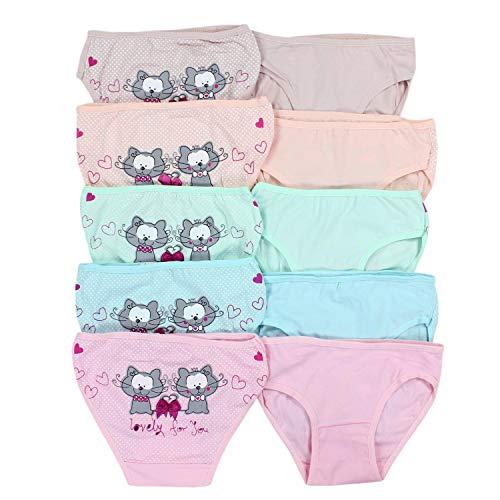 TupTam Mädchen Slips mit Aufdruck 10er Pack, Farbe: Farbenmix 2, Größe: 104-110