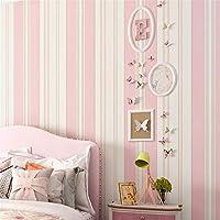 Lzxydbz Tapeten Kinderzimmer Tapete Schlafzimmer Romantisch Rosa Prinzessin  Zimmer Grün Vlies Streifen Tapete Rolle