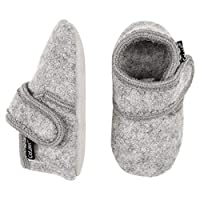 Celavi Unisex Babies Wool First Walker Shoe, Grey Melange, 12.5 UK