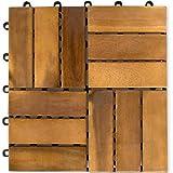 Stilista® 11er Set 1m² in legno di acacia piastrelle 30x 30x 2,4cm Certificato, TFT, oliato, viti zincate, sistema a innesto