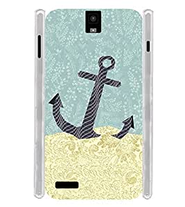 Sand Art Anchor Sea Soft Silicon Rubberized Back Case Cover for Infocus M330
