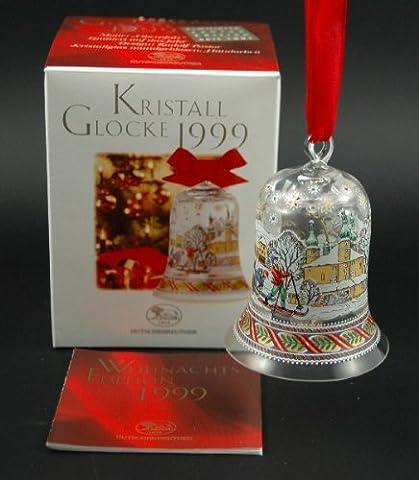 Hutschenreuther Kristall Glocke 1999*Rarität*Neu, Weihnachtsglocke, Baumanhänger, Baumschmuck, Anhänger, Weihnachten, Kristallglocke, Glasglocke