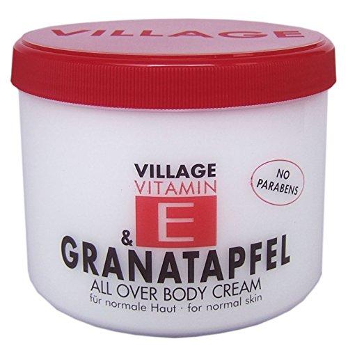 Village Vitamin E Bodycream Granatapfel, 1er Pack (1 x 500 ml)