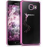 kwmobile Étui transparent élégant avec Design fée pour Samsung Galaxy A5 (2016) en rose foncé transparent