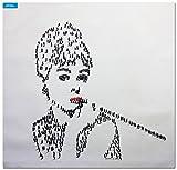 elOleo - Audrey Hepburns people 90x90 Gemälde auf Leinwand handgemalt 85584A