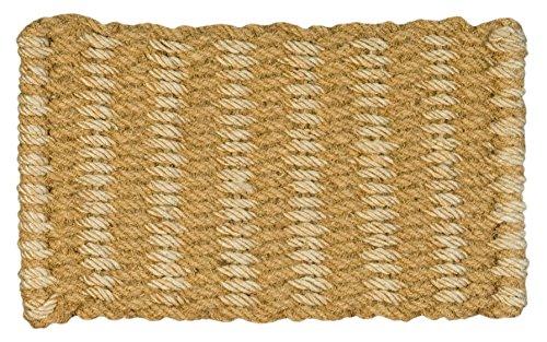 Jute & Co - Felpudo de cuerda trenzada de coco natural y yute (45 x 75 cm), color beige