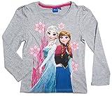 Frozen Langarmshirt Die Eiskönigin 2016 Kollektion 98 104 110 116 122 128 Mädchen Herbst Winter Lang Ökotex 100 Anna und ELSA Grau (98-104, Grau)