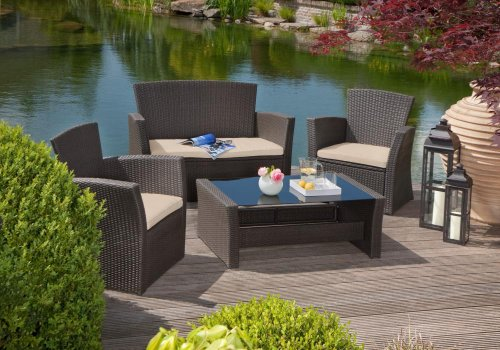 greemotion 429110 Loungegruppe Madrid 4-teilig, Aluminium