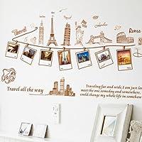 YESURPRISE Vinilo Decorativo Pegatina Pared Para Dormitorio Sala Recuerdos De Viaje