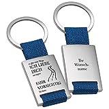 Schlüsselanhänger Fahr vorsichtig in Blau - persönlicher Schutzengel mit Gravur - Glücksbringer graviert mit Wunschname …
