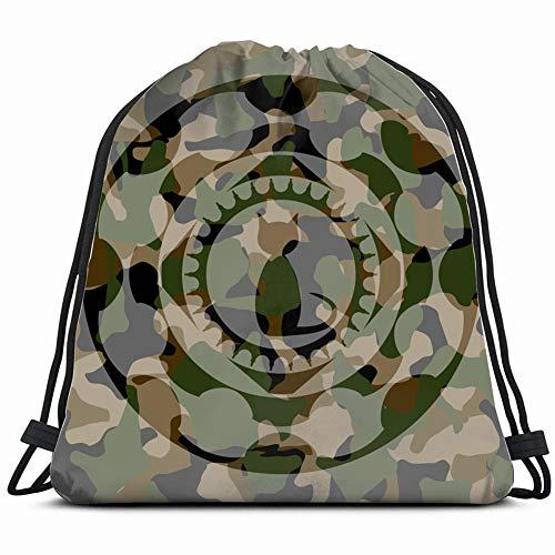 khgkhgfkgfk cat icon Inside camo Emblem Drawstring Backpack Gym Sack Lightweight Bag Water Resistant Gym Backpack for Women&Men for Sports,Travelling,Hiking,Camping,Shopping Yoga - Camo Emblem