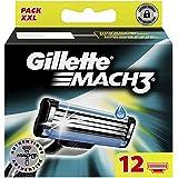 Gillette Mach3 Lames De Rasoir Pour Homme – 12Recharges