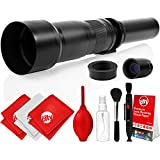 Opteka 650-2600mm High Definition Super Telephoto Zoom Lens For Panasonic Micro Four Thirds System Digital SLR Photo Cameras (Black) + Premium 8-Piece Cleaning Kit