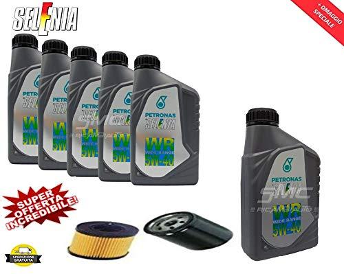 SMC 6 Litri Olio Motore per Auto SELENIA Wide Range 5W40 con Filtro Olio Omaggio