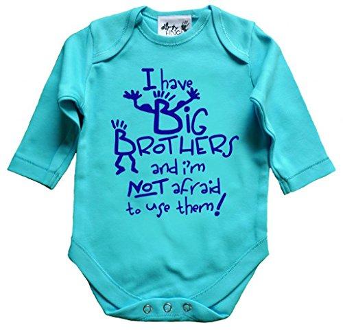 Big-brother-baby-strampelanzug (Dirty Fingers I Have Big Brothers, Baby Unisex Strampelanzug, Lange Ärmel Gr. XXXXXS, Saphirblau)