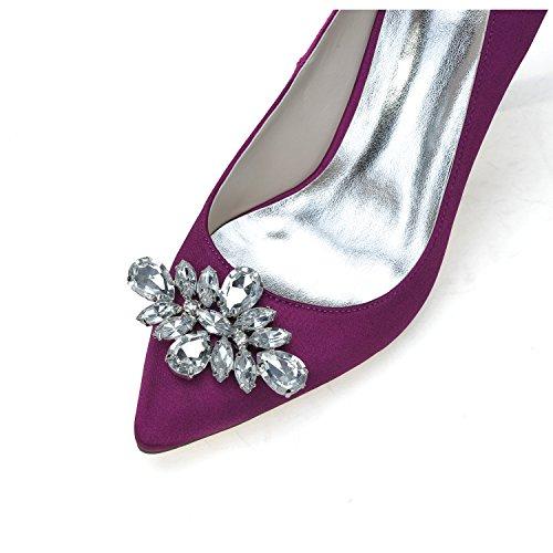 Donna Elegante Talon Stiletto Escarpins Scarpe Déduction Gems Purple
