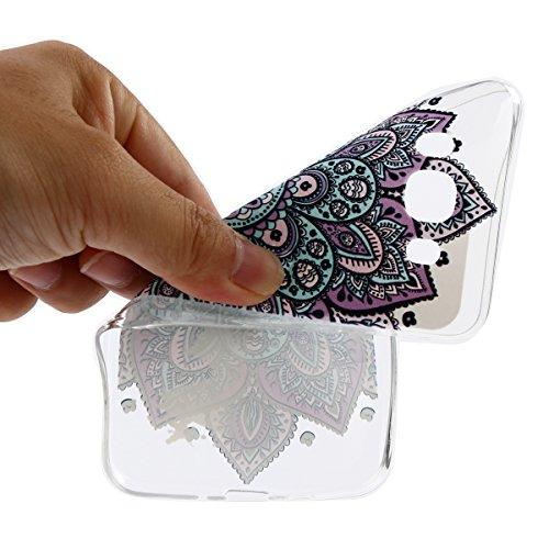 Galaxy J5 2016 Custodia, Silicone Cover Per Samsung Galaxy J5 2016, JAWSEU Samsung Galaxy J5(2016) SM-J510F Case Caso TPU Ultra Sottile Cristallo Chiaro Luminoso Bella Modello Brillante Trasparente Cu Floreale Porpora