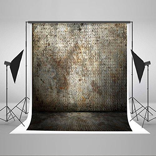 Kate 6,5x Sim2SM3W Rusty Wand Fotografie Hintergrund Metall silber Foto Hintergrund Brick Boden Rückseite Reinigungstuch Studio Requisiten