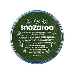 Snazaroo - Pintura facial y corporal, 18 ml, color verde oscuro