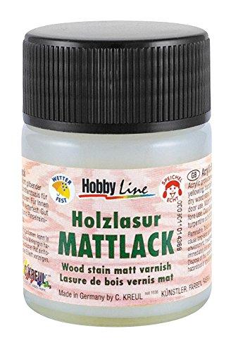 Holzlasur HOBBYLINE Lack 50ml matt speichelecht Holzfarbe zum Basteln