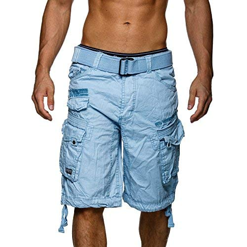 Pantalones cortos tipo cargo Geographical Norway azul claro XXL