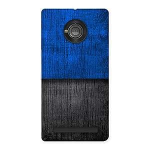 Blue Black Print Back Case Cover for Yu Yunique