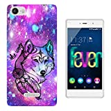 002961 - She Wolf Indian Feathers Galaxy Stars Design Wiko