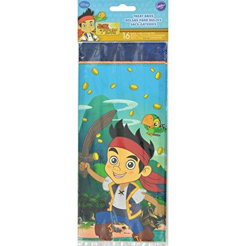 16Count Disney Jake und die Nimmerland Piraten Treat Taschen (Piraten Behandeln Taschen)