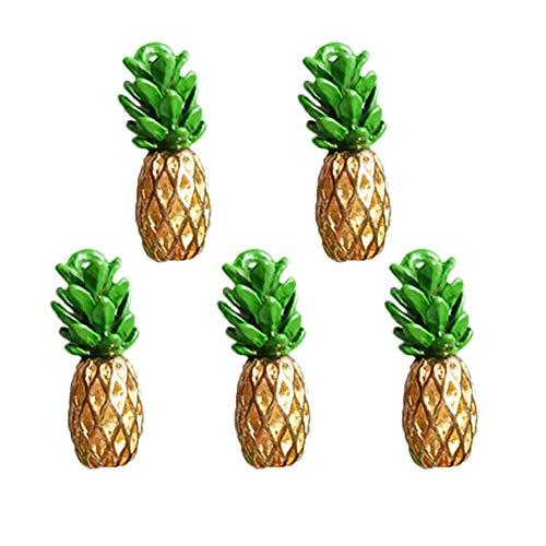 BIGBOBA 10 Stück DIY Manuell Zubehör Obst Ananas Kopfbedeckung Haarschmuck Schmuck Damen Student Schmuck Geschenk Paket Anhänger Dekoration 1.9 * 2.4cm