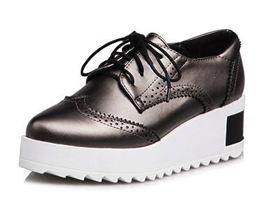 Metallic Oxford Rutschfest Plateau Aisun Damen Sneaker Schüren EH29YIWD