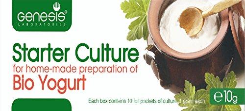 Joghurtferment für Bio-Joghurt – eine Packung mit 10 Beuteln tiefgekühlter trockener Kulturen - 2