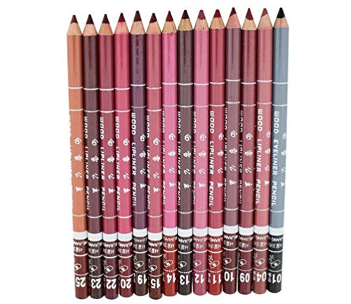 Internet Professional Lip Liner Women Waterproof Lip Liner Pencil 15CM 12 couleurs par Set