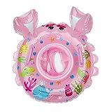 Cartoon-Krabbe schwimmen Ring , Chickwin Baby Aufblasbare Schwimmbad Float Swim Ring Kleinkind Sicherheit Aufblasbare Sitzring Sitz Schwimmen Ring (Rosa)