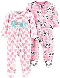 Simple Joys by Carter\'s 2-Pack Fleece Footed Sleep and Play Bebé-Niñas, Pack de 2